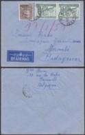 Belgique - Lettre PA COB 437+772 En Paire De Charleroi Vers Madagascar(DD) DC2734 - Belgique