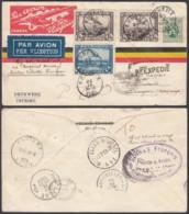 Belgique - Lettre 22/09/1933 COB 283 + PA1, 2 X2 De Esneux Vers Rangoon Indes (DD) DC2736 - Belgique