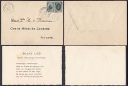 "Belgique  - Lettre 1922 - Affranchissement Vignettes Privées Obl. "" Anvers Gare "" (DD) DC2742 - Belgique"