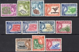 Pitcairn QEII 1957-63 Definitives Set Of 12, Including Both 4d Values, Used, SG 18/28 - Stamps