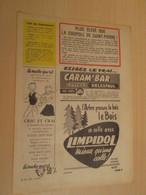 SPI19 SPIROU ANNEES 50/60 1 PAGE : PUBLICITE CRIC ET CRAC VACHE QUI RIT + CARAMBAR - Autres