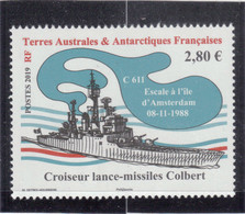 VV10- TAAF -886-  Bateau - Croiseur Lance-missiles COLBERT - - Neufs
