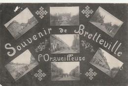 14/ Souvenir De Bretteville L'Orgueilleuse - Carte Mulkti-vues écrite En 1909 - France