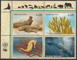 UNO WIEN 2008 Mi-Nr. 526/29 ** MNH Gefährdete Arten - Ungebraucht
