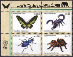 UNO WIEN 2009 Mi-Nr. 588/91 ** MNH Gefährdete Arten - Ungebraucht