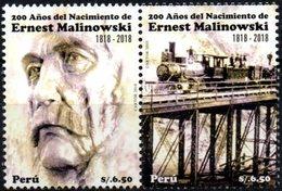 Peru 2019 ** Bicentenario Ernest Malinowki. Ingeniero Polaco. Ferrocarril Central Del Peru. - Peru