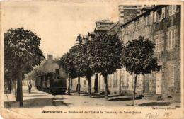 CPA AVRANCHES Bd De L'Est Et Le Tramway De Saint-James (574809) - Avranches