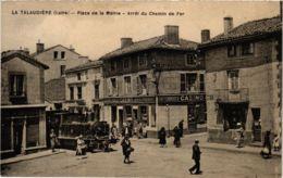 CPA LA TALAUDIERE Place De La Mairie Arret Du Chemin De Fer (574822) - Altri Comuni