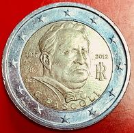 ITALIA - 2012 - Moneta - 100 Anni Della Scomparsa Di Giovanni Pascoli - Ritratto - Euro - 2.00 - Italy