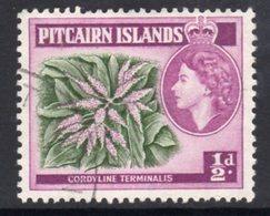 Pitcairn QEII 1957-63 ½d Flowering Plant Definitive, Wmk. Block CA, Used, SG 33 - Stamps