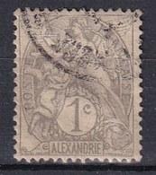 Colonies Françaises - ALEXANDRIE -  1902 - Timbre Oblitéré  N° YT 19 - Prix Fixe Cote 2015 à 15% - Gebraucht