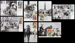 Hungary Carte Maximum: Busó Carnival Of Mohács 1973    LOT  (7 Postcards) - Glaube, Religion, Kirche