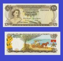 Bahamas 20 Dollar Shilling  1968 - Bahamas