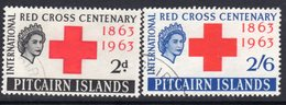 Pitcairn QEII 1963 Red Cross Centenary Set Of 2, Used, SG 34/5 - Stamps