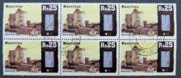 ILE MAURICE - MAURITIUS - 2007 - YT 1086 - BLOC DE 6 BELLES OBLITERATIONS - Maurice (1968-...)