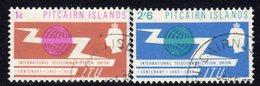 Pitcairn QEII 1965 ITU Set Of 2, Used, SG 49/50 - Stamps