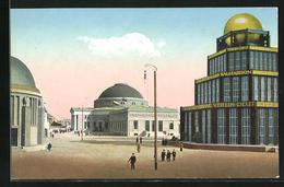 AK Leipzig, Intern. Baufach-Ausstellung Mit Sonderausstellungen 1913, Blick Auf Den Pavillon D. Stahlwerksverbands - Expositions