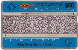 Malaysia (Kadfon) - Golden Thread Material - L&G - 106C - 1991, 50RM, 80.000ex, Used - Malaysia