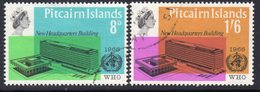 Pitcairn QEII 1966 WHO Headquarters Set Of 2, Used, SG 59/60 - Stamps