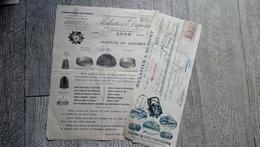Document Feuille Publicitaire Mulatier Et Dupont Tissage Métallique Complet Articles De Galeries Lyon Timbre Fiscal - Advertising