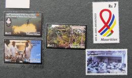 ILE MAURICE - MAURITIUS - 2011 - YT 1134 à 1138 ** - EVENEMENTS COMMEMORATIFS - Mauritius (1968-...)
