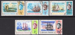 Pitcairn QEII 1967 Bicentenary Of Discovery Set Of 5, Used, SG 64/8 - Stamps