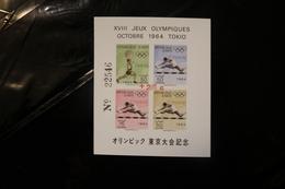 Haiti CB54b Tokyo Olympics Weights Hurdles Surcharge 25c Red IMPERFORATE Souvenir Sheet MNH 1964 A04s - Haiti