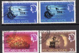 Pitcairn QEII 1967 150th Death Anniversary Of Captain Bligh Set Of 3, + Shade Of 1c Value, Used, SG 82/4 - Stamps