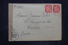 BELGIQUE - Enveloppe De Forchies La Marche Pour La France En 1945 Avec Contrôle Postal - L 26652 - Belgium