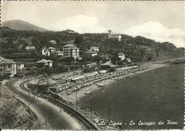 Celle Ligure (Savona) La Spiaggia Dei Piani, Via Aurelia E Ferrovia - Savona