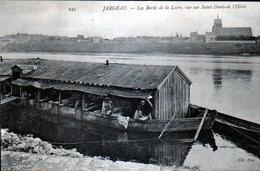 45, Jargeau, Les Bords De La Loire, Vue Sur Saint Denis De L'hotel, Bateau Lavoir - Jargeau