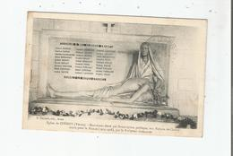 EGLISE DE CHEROY (YONNE) MONUMENT ELEVE PAR SOUSCRIPTION PUBLIQUE AUX ENFANTS DE CHEROY MORTS POUR LA FRANCE (14 18) - Monuments Aux Morts