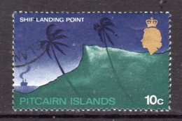 Pitcairn QEII 1969-75 Definitives 10c Value, Glazed Paper, Used, SG 101a - Stamps