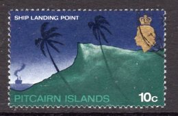 Pitcairn QEII 1969-75 Definitives 10c Value, Wmk. Crown To Right Of CA, Used, SG 101aw - Stamps