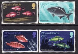Pitcairn QEII 1970 Fish Set Of 4, Wmk. Inverted, Used, SG 111a/4a - Stamps