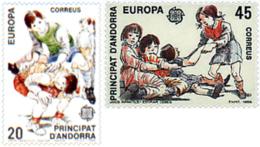 Ref. 62713 * NEW *  - ANDORRA. Spanish Adm. . 1989. EUROPA CEPT. CHILDREN'S GAMES. EUROPA CEPT. JUEGOS INFANTILES - Andorra Española