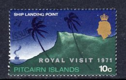 Pitcairn QEII 1971 Royal Visit Overprint, Used, SG 115 - Pitcairn