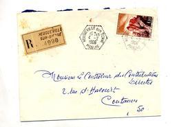 Lettre Recommandee  Heugueville Sur Joux - Marcophilie (Lettres)