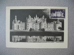 Carte Maximum  30/5/1952  N° 924 Cachet Premier Jour Château De Chambord - Chambord - Maximum Cards
