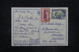 CONGO BELGE - Affranchissement Plaisant Sur Carte Postale En 1949 Pour La Belgique Par Avion - L 26658 - 1947-60: Lettres