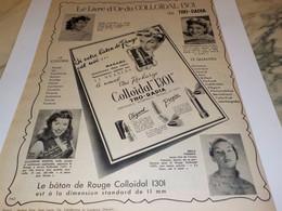 ANCIENNE PUBLICITE COLLOIDAL 1301 DE THO RADIA 1952 - Perfume & Beauty