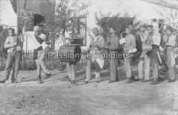 CARTE PHOTO  Environs De BIZERTE 1908  BAIE PONTY LA PECHERIE (Petit CREUSOT ?) Soldats Marins Vive La Classe. - Tunisie