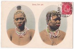 Young Zulu Girls - Jeunes Filles Zoulou - Belle Carte - Afrique Du Sud - Afrique Du Sud
