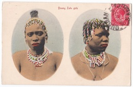 Young Zulu Girls - Jeunes Filles Zoulou - Belle Carte - Afrique Du Sud - South Africa