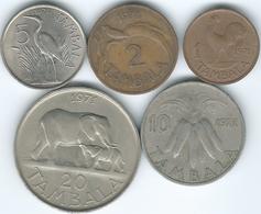 Malawi - 1971 - 1, 2, 5, 10 & 20 Tambala (KMs 7-11) - Malawi