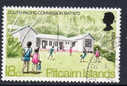 Pitcairn QEII 1972 South Pacific Commission 18c Value, Wmk. Inverted, Used, SG 122w - Stamps