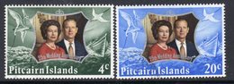 Pitcairn QEII 1972 Royal Silver Wedding Set Of 2, Normal Wmk., Used, SG 124/5 - Stamps