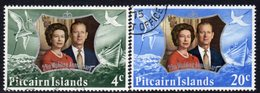Pitcairn QEII 1972 Royal Silver Wedding Set Of 2, Inverted Wmk., Used, SG 124w/5w - Stamps