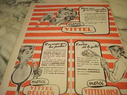 ANCIENNE PUBLICITE MERCI EAU VITTEL 1956 - Afiches