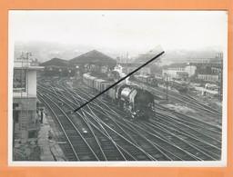 PHOTO - GARE DE LYON - PERRACHE COTE SUD - Train Locomotive à Vapeurs - SNCF Cachet S N C F - 19 Septembre 1951 - Lyon